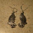Earrings Pierced Tibetan Silver Eagle Charm NEW #735