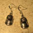 Earrings Pierced Tibetan Silver Baseball Cap Charm NEW #765