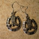 Earrings Pierced Tibetan Silver Horseshoe Charm NEW #717