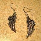 Earrings Pierced Tibetan Silver Angel Wing Charm NEW #733