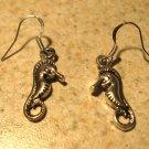 Earrings Tibetan Silver Seahorse Charm Pierced Dangle NEW #770