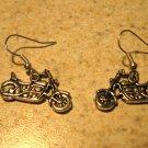 Earrings Tibetan Silver Motorcycle Charm Pierced Dangle NEW #453