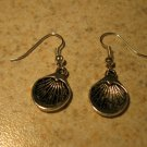 Earrings Tibetan Silver Shell Charm Pierced Dangle NEW #447
