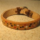 Tan Leather Unisex Punk Surfer Bracelet HOT! #987