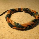 Tan Aqua Mustard Multi Color Leather Unisex Punk Surfer Bracelet with Weave Design HOT! #986