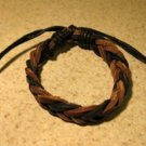 Brown & Black Leather Unisex Punk Surfer Bracelet with Weave Design HOT! #316