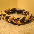 Brown Beige & Tan Leather Unisex Punk Surfer Bracelet With Weave Design HOT! #275