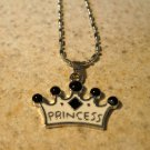 Princess Crown Necklace & Pendant New #811