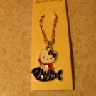 Purple Fish Hello Kitty Necklace & Pendant New #13