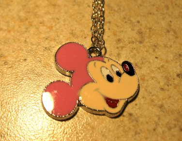 Loveable Pink Ear Mickey Mouse Child Necklace & Pendant New #514