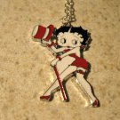 Red Top Hat Betty Boop Necklace & Pendant New #637