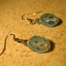 Beautiful Opaque Blue 2 Sided Crystal Pierced Earrings NEW! #650