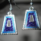 Beautiful Blue Bell Shape Design Dangle Earrings NEW! #460