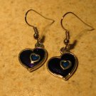Beautiful Purple Heart Pierced Dangle Earrings NEW! #372