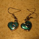 Beautiful Aqua Blue Heart Pierced Earrings NEW! #368