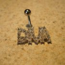 """Belly Navel Ring Diamond Crystal """"Diva"""" NEW #695A"""