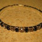 Beautiful Faux Black Onyx Gemstone Stretch Tennis Bracelet NEW #973