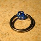 Body Piercing Jewelry 1/2 in Blue Dice Captives HOT! #823F