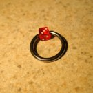 Body Piercing Jewelry 1/2 in Red Dice Captives HOT! #823C