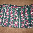 Beautiful Green Floral Dinner Napkins X8 NEW #D162