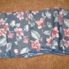 Beautiful Grey & Pink Floral Dinner Napkins X6 NEW #D165