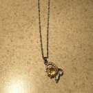 Necklace Womens Gemstone Yellow Citrine Dolphin Design NEW #403