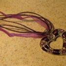 Lovely Necklace & Pendant Purple Heart Gemstone #369