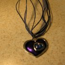 Lovely Necklace & Pendant Purple& Blue Double Heart #371