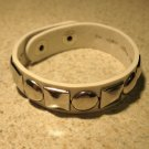 White Leather Silver Studded Punk Unisex Bracelet HOT! #748