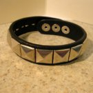Bracelet Men Women Black Leather Wide Stud Punk Unisex HOT #906