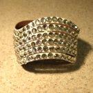 White Leather Rhinestone Bling Wave Punk Bracelet HOT! #306