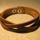Unisex Brown Leather Weave Style Punk Bracelet HOT! #854