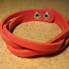 Unisex Pink Leather Weave Style Punk Bracelet HOT! #878