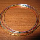 Beautiful Multi-Colored Bangle Bracelets 6 pieces NEW! #D303