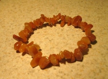 Orange Aventurine Gemstone Bangle Bracelet HOT! #399