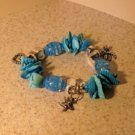 Bracelet Aqua Shell with Starfish Charm NEW & HOT! #659