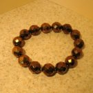 Bracelet Metallic Bronze Faceted Crystal 7-8mm Stretch #967