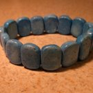 Genuine Blue Turquoise Gemstone Bangle Bracelet New #386