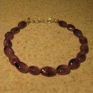 Purple Amethyst Bangle Bracelet New #292