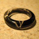 Black & White Resin Splash Fun Ring To Wear Unisex Sizes 6 NEW! #381F