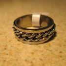 Ring Men Women Chain Design Band Unisex Size 9 NEW! #665