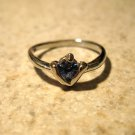 Lovely Blue Topaz Solitaire Ring Size 6.5 New! #778