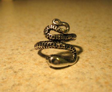 Tibetan Silver Coiled Snake Ring Size 7.5 HOT! #132