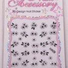 Nail Art Black & White Bouquet Design Manicure Decal Stickers #358