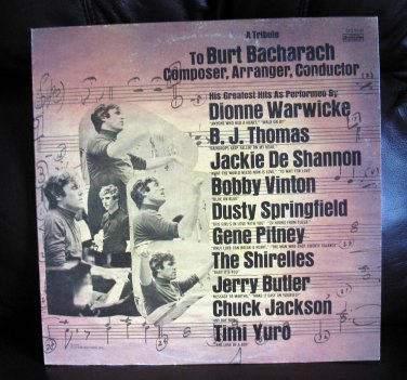 Vinyl LP Album Burt Bacharach Tribute To Burt #15E
