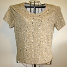 Beige Figured Top Shirt Blouse by White Stag Size XL (16-18) Nice! #D267