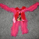 Hot Pink Lace Thong Panties Underwear Size Small NEW & SEXY #922