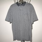 Grey Plaid Men's Golf Shirt by Van Heusen Size M (Medium) Nice! #T846