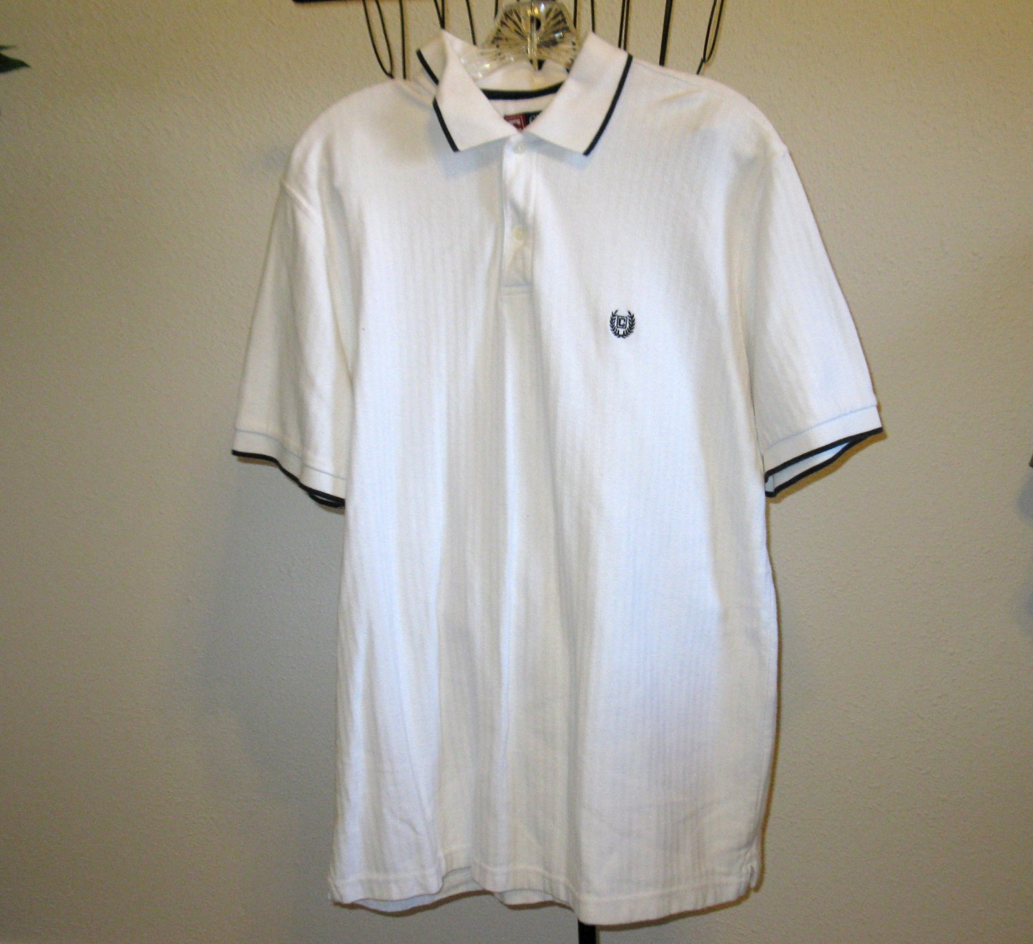 White Men�s Golf Shirt by Chaps Size L/G (Large) Nice! #T845