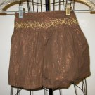 Beautiful Brown Embroidered Skirt by Copper Key Child Size 2T Nice! #X44